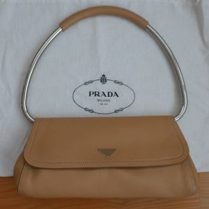 PRADA~Beige Leather RING HANDLE Bag~Dustbag~LOVELY
